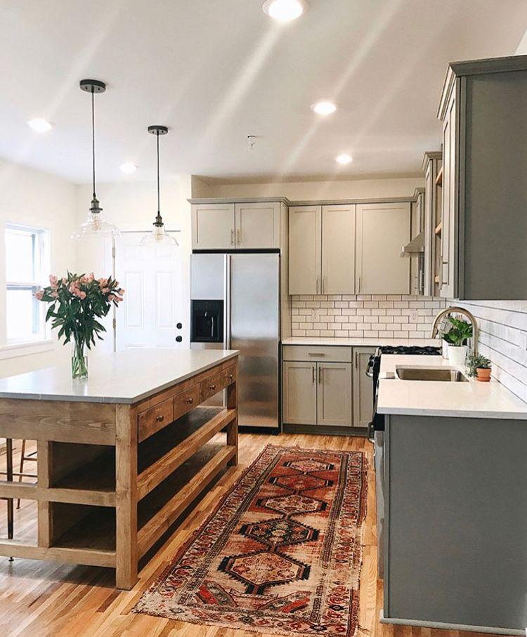 Island and rug Kitchen ideas Pinterest Cocinas, Hogar y Casas