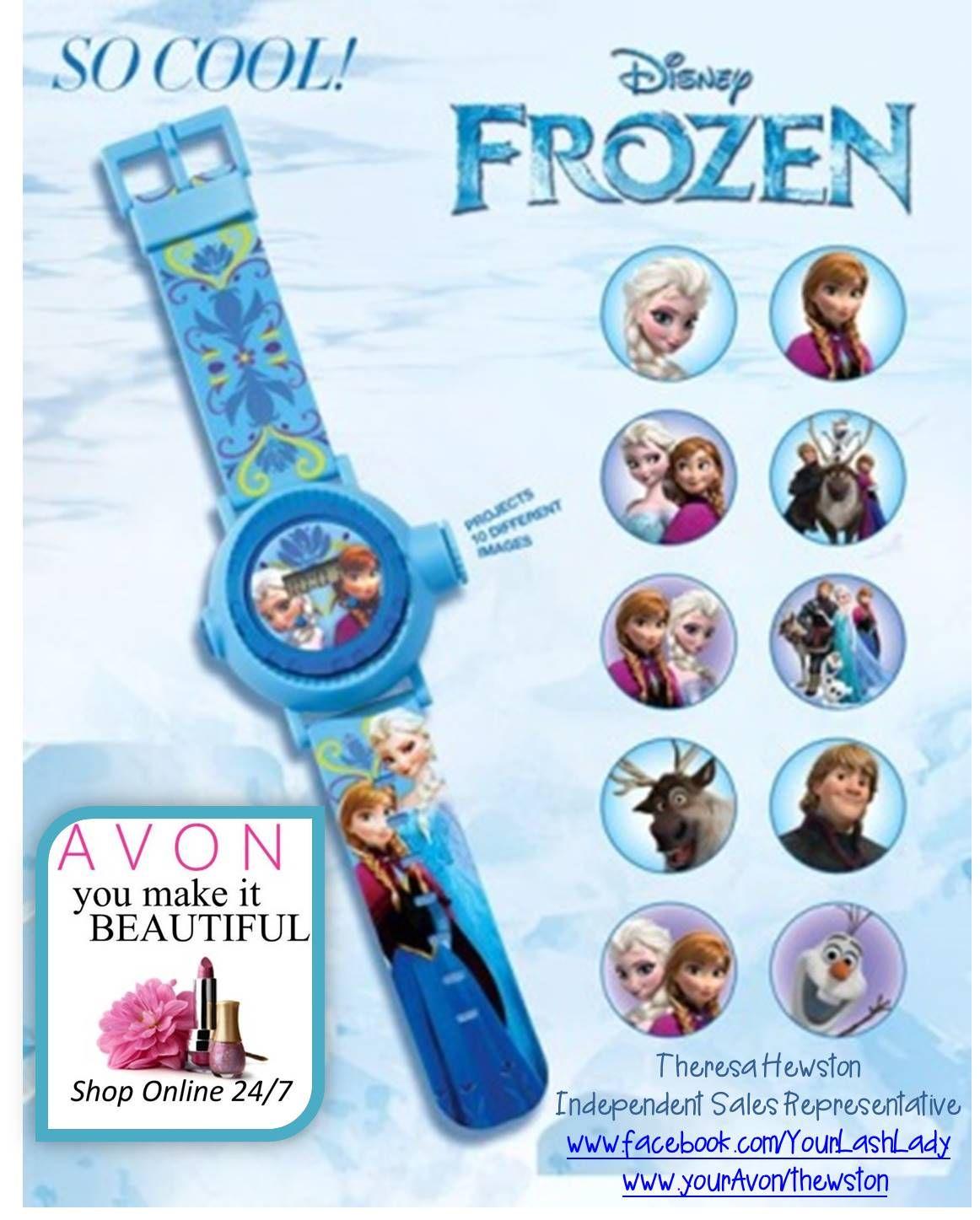 Avon, Disney's Frozen, Elsa, projection watch, Olaf, Sven, gift ideas, children's gifts, Santa shops at Avon, Shop Online 24/7 at www.yourAvon.com/rbeck