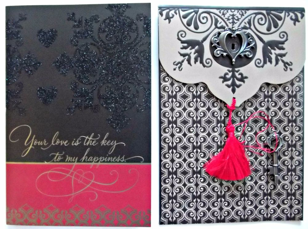 3D VALENTINE'S DAY Card Hallmark Lock & Key Envelope Key To My Happiness...Gift #HallmarkCrown #ValentinesDay
