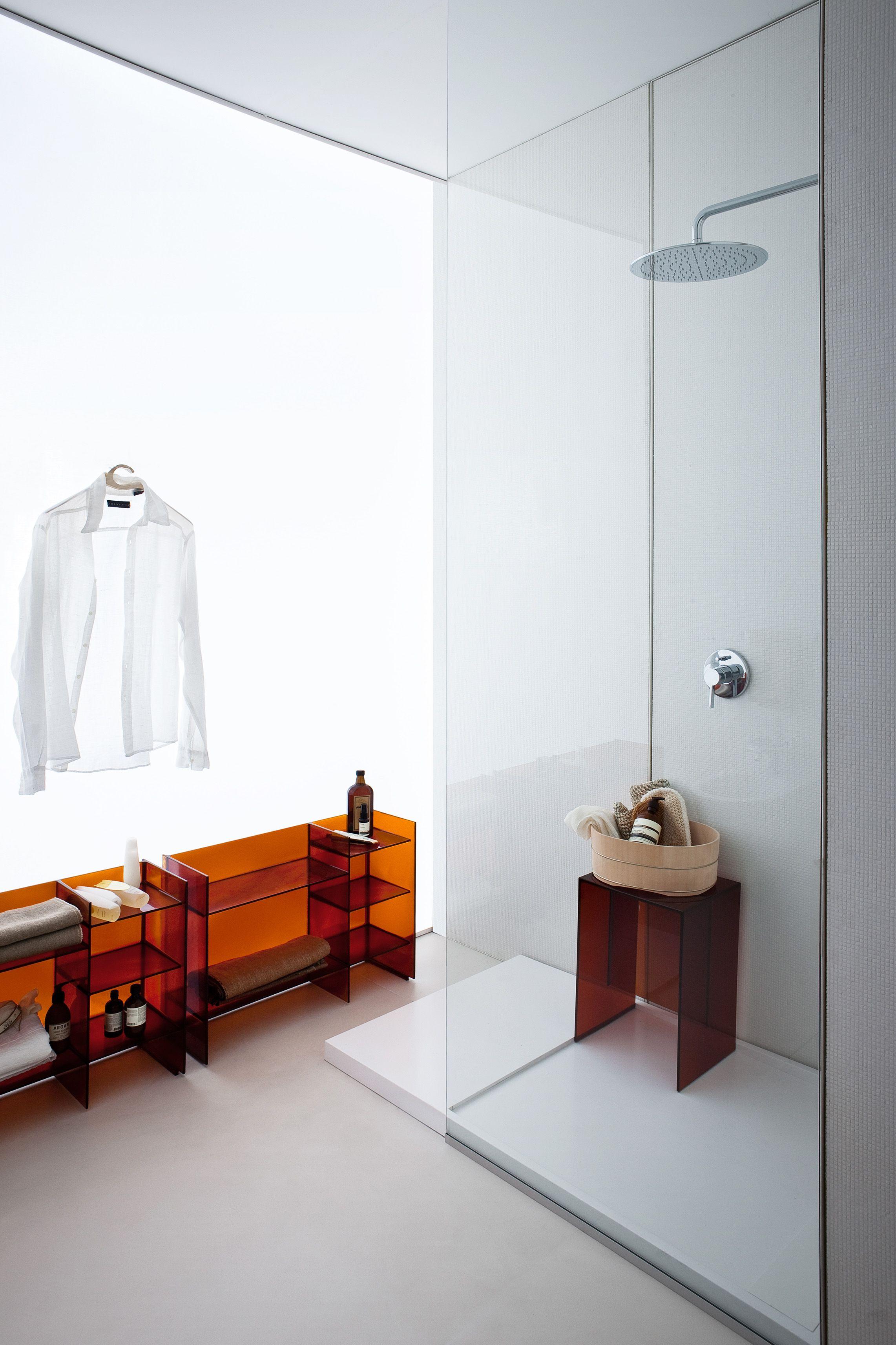 Beau Salle De Bain Kartell By Laufen, Douche Design, Et Mobilier Transparent,  Design Palomba