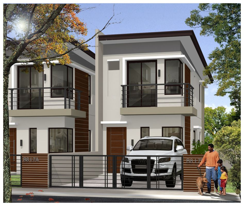 Modern Home Exterior Design Ideas 2017: Single Attached Model Houses In The Philippine Real Estate
