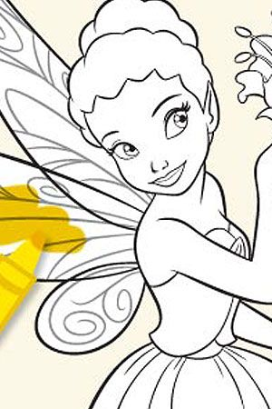 Iridessa Coloring Page 2 Tinkerbell Pinterest Disney fairies