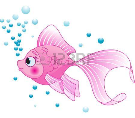 Illustration Of Cute Pink Fish Pink Fish Cute Fish Cartoon Fish