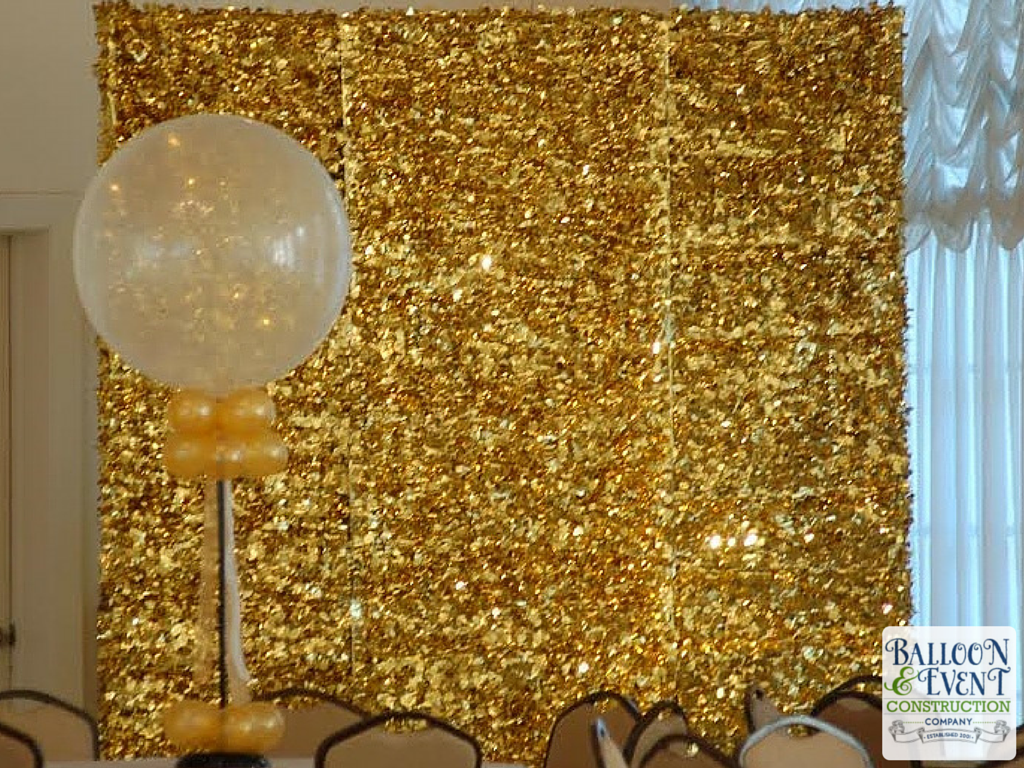 Wolfson High School Homecoming Dance - gold shimmer backdrop ...