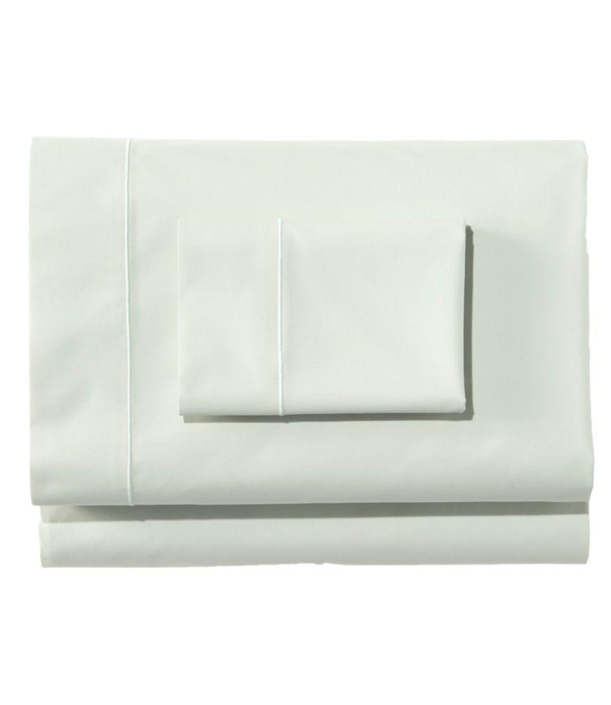 Premium Egyptian Percale Sheet Collection Sheets At L L Bean In 2021 Percale Sheets Egyptian Green Queen 100 egyptian cotton percale sheets