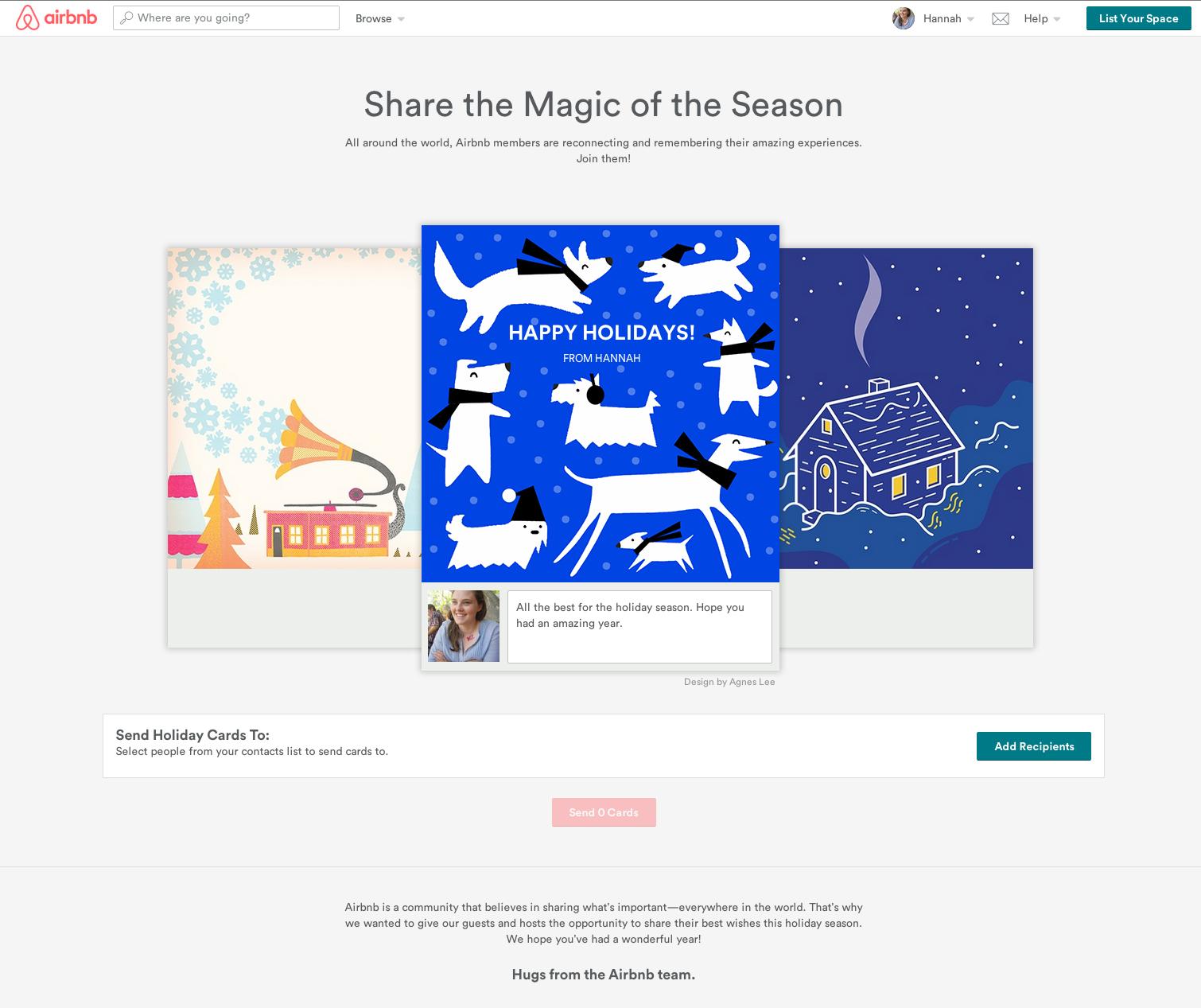 airbnb digital holiday card digital campaigns pinterest