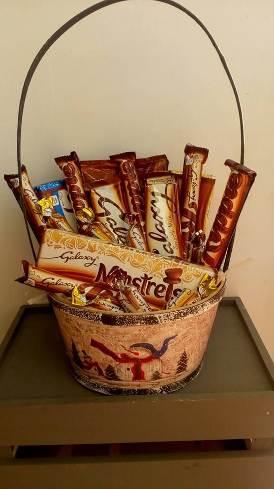 Galaxy gift hamper Available all year. Hamper basket designs vary ...