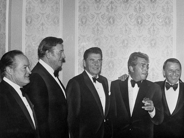 Ronald Reagan Dean Martin /& Frank Sinatra 1977 8X10 Photo bucraft John Wayne ZY-490