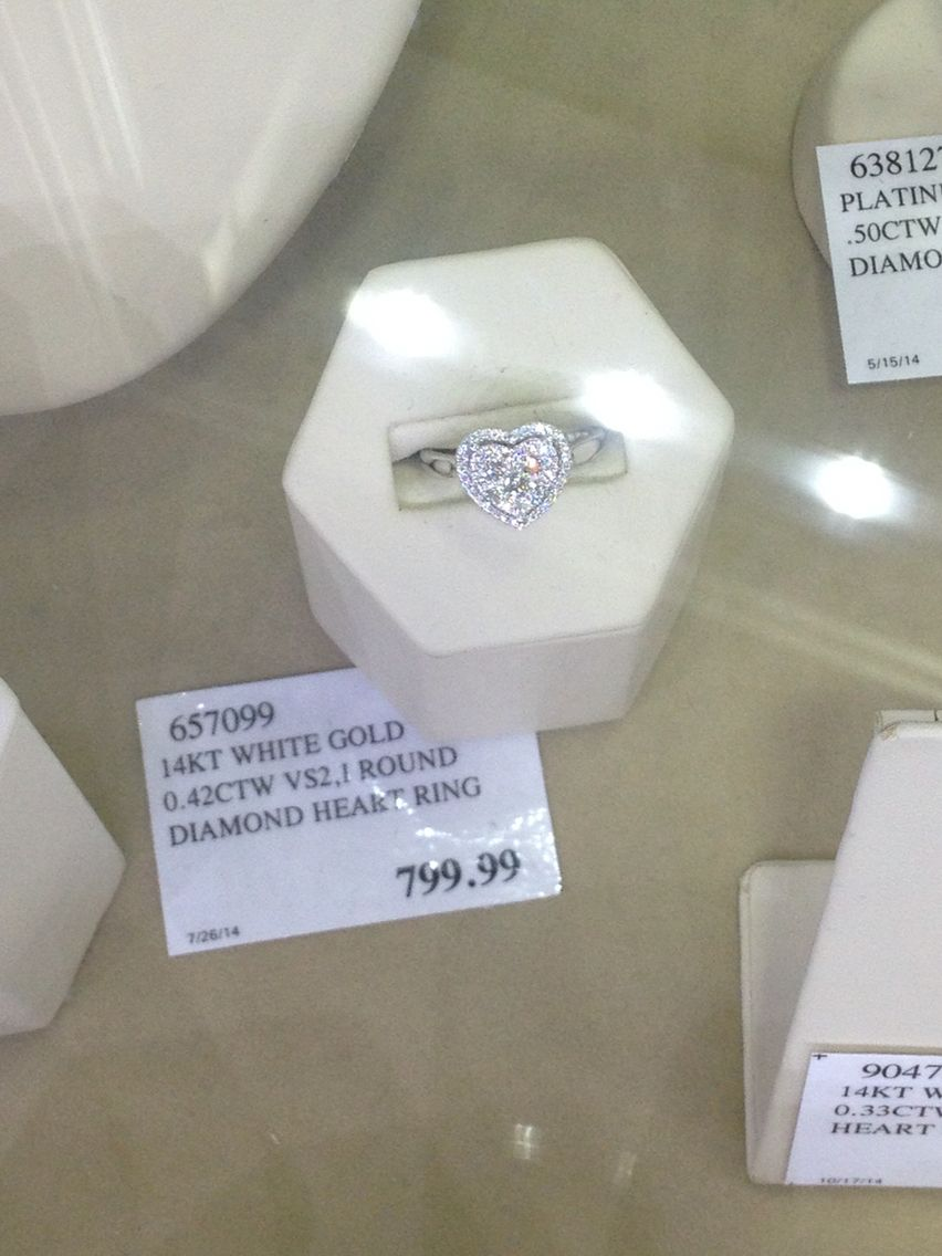 Beautiful Heart Shaped Diamond Ring From Costco So Simple But The Heart Makes It Glamorous Heart Shaped Diamond Ring Costco Jewelry White Gold Rings