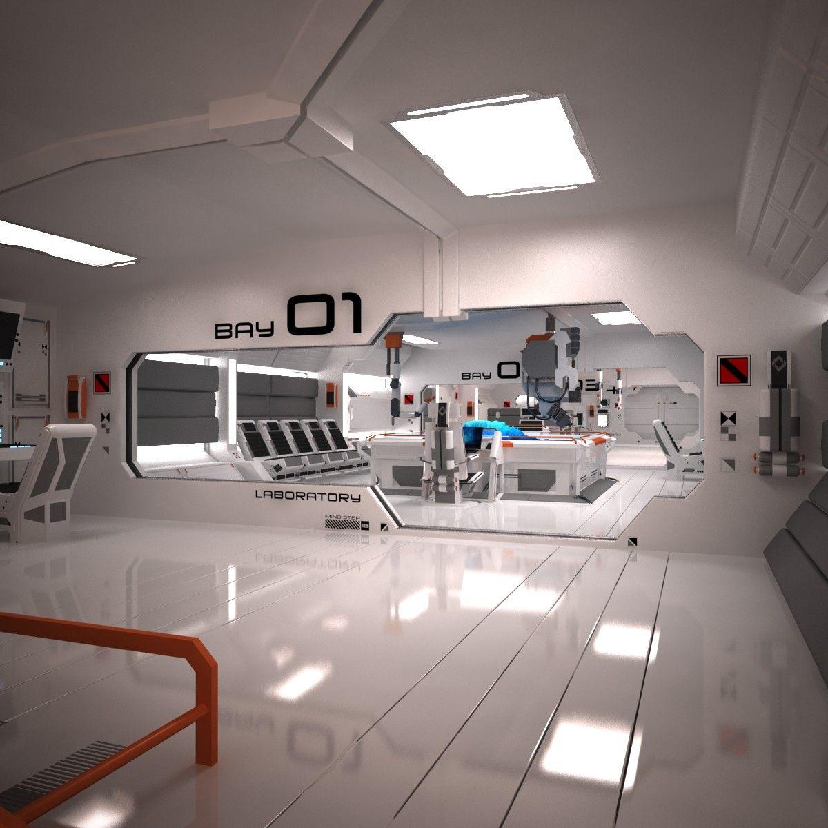 3ds Max Futuristic Sci Fi Laboratory Cool Image I Envisioned
