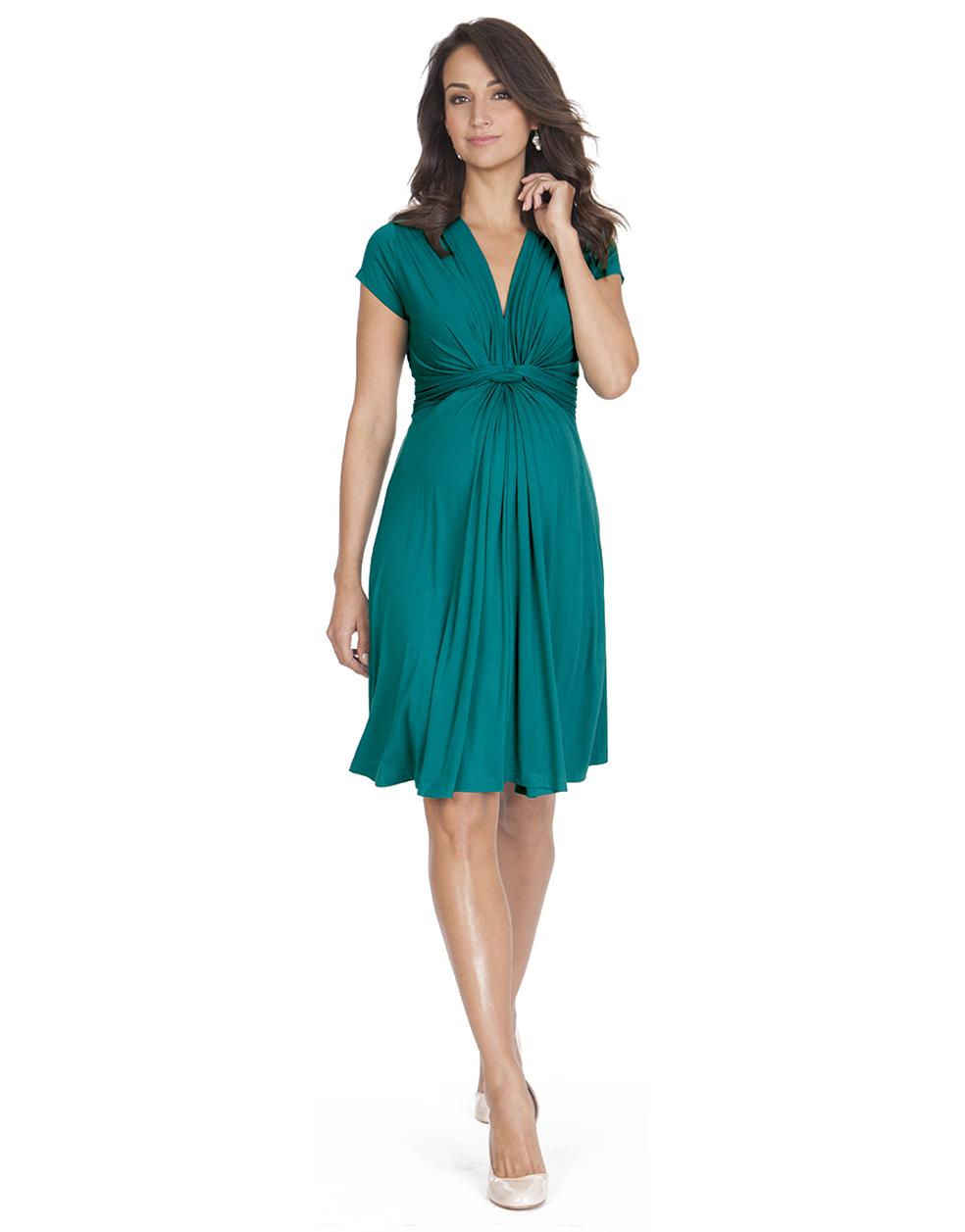 1fb4b2cefe1b3 Jolene Peacock Green Knot Maternity Dress in 2019 | Maternity ...