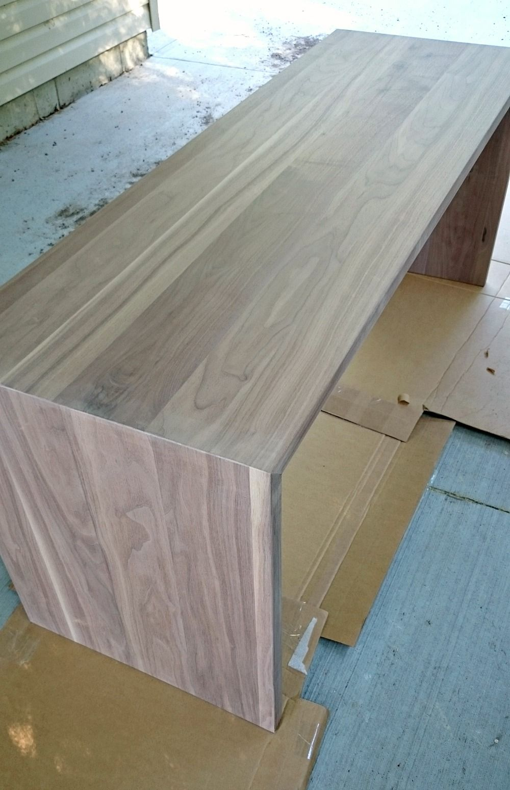 Solid Walnut Diy Waterfall Desk For Two Waterfall Countertop