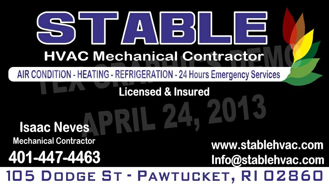 Stable Hvac Unique Business Cards Business Card Design Hvac