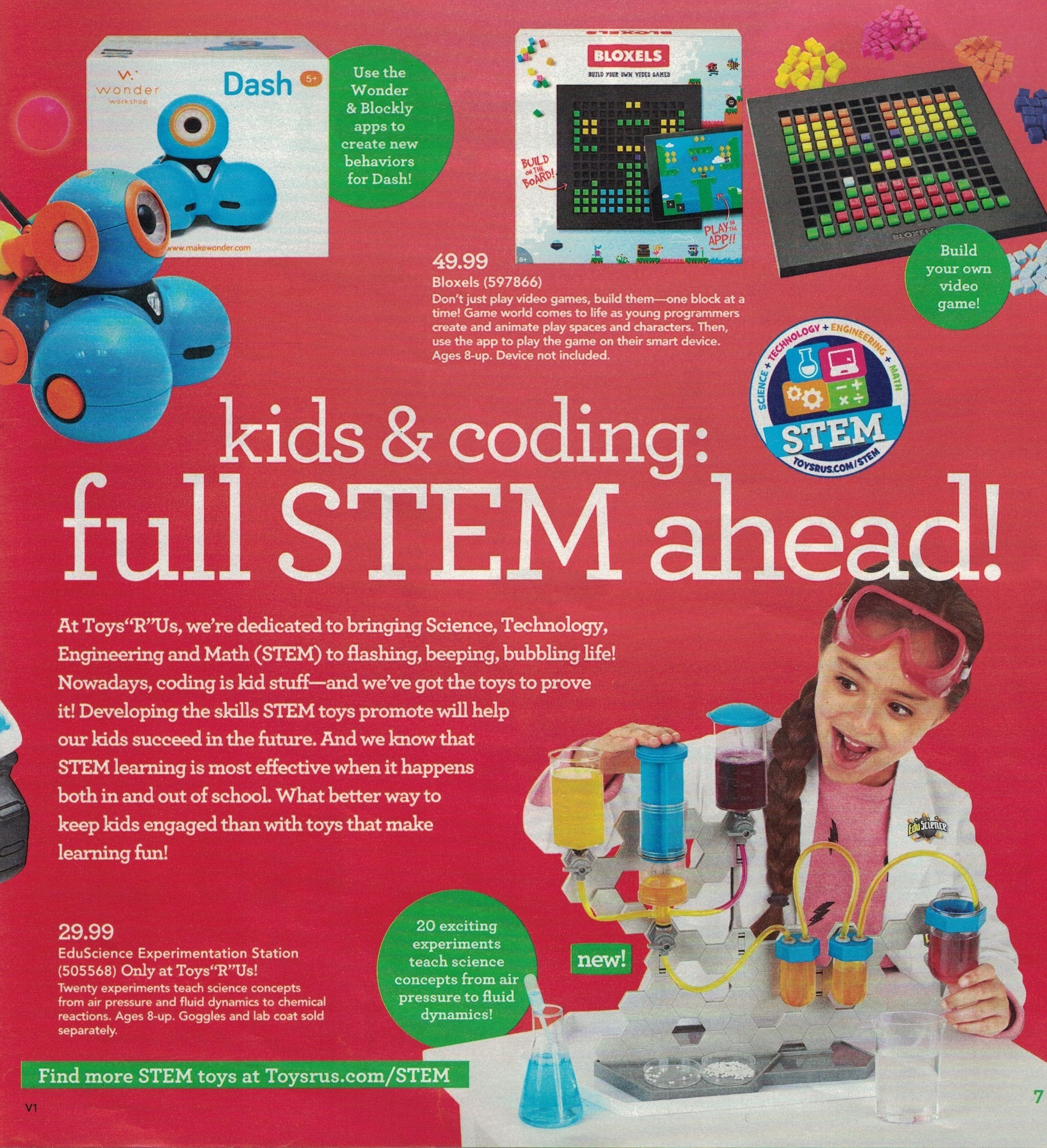 """Toys""""R""""Us 2016 Toybook Page 7 Science for Maine"""
