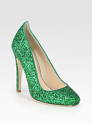 b04b76a1fdc7 Jerome C. Rousseau Aizza Glitter Pumps. I think I found my shoes for the  St. Patties Day Party!