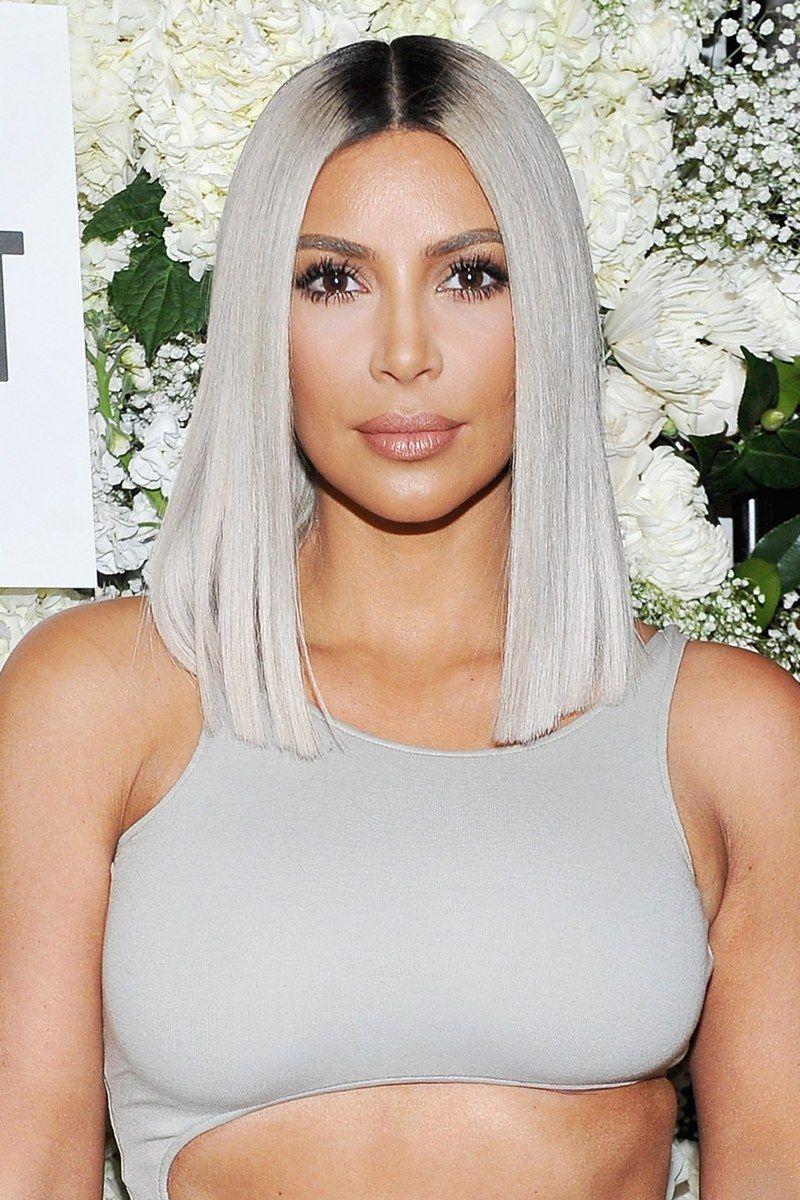 Stetiger Wandel Kim Kardashians Schonste Frisuren Haarfarben Haarschnitt Und Farbe Haarschnitt