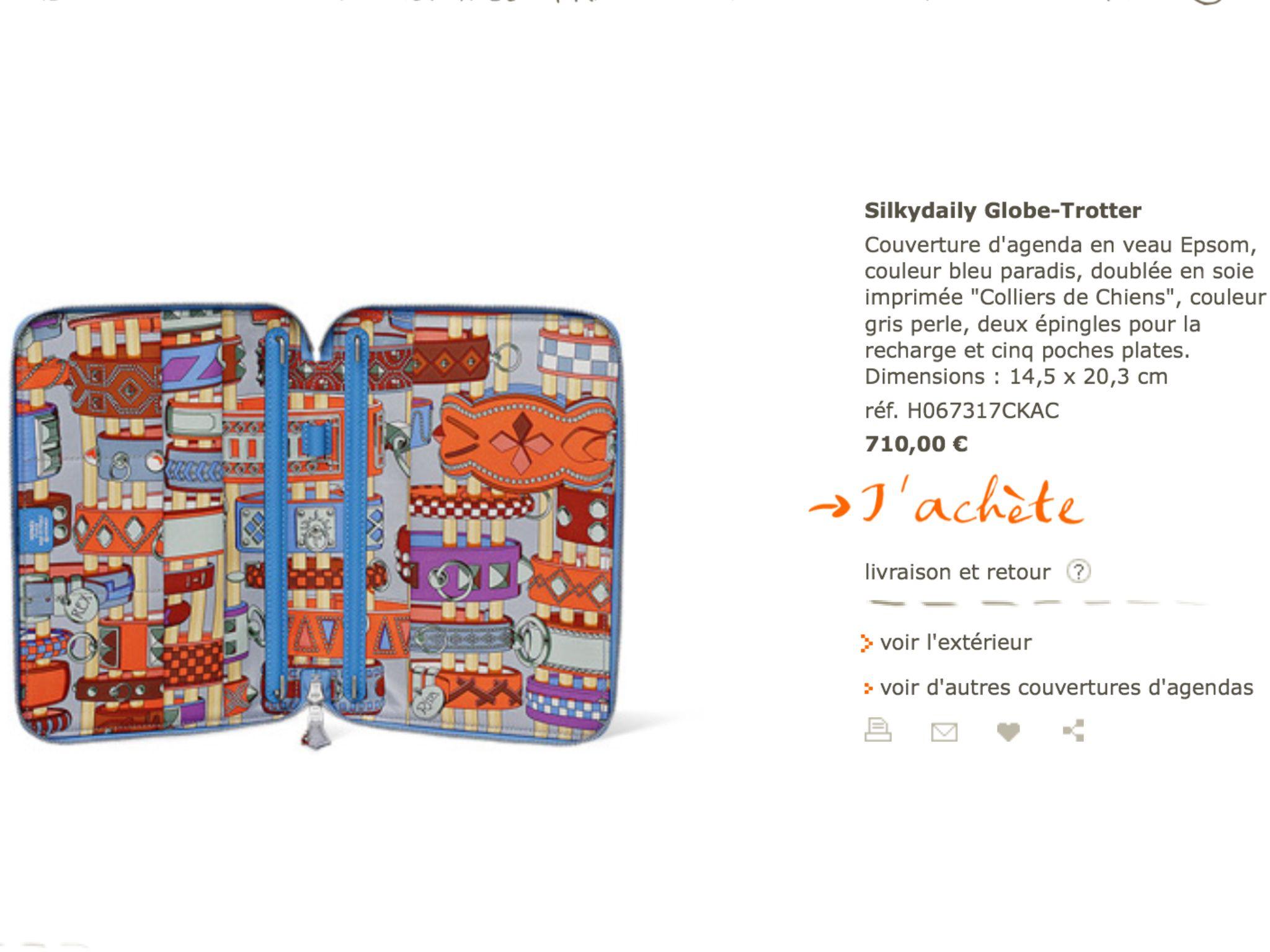 Hermes Silky Collection Zip Agenda Avec Images Couleur Gris