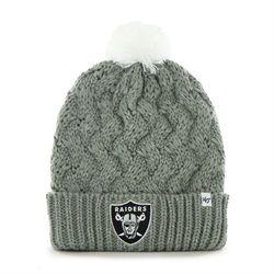 dade1f04 Women's Knit Oakland Raiders Beanie Crochet Hat | Oakland Raiders ...
