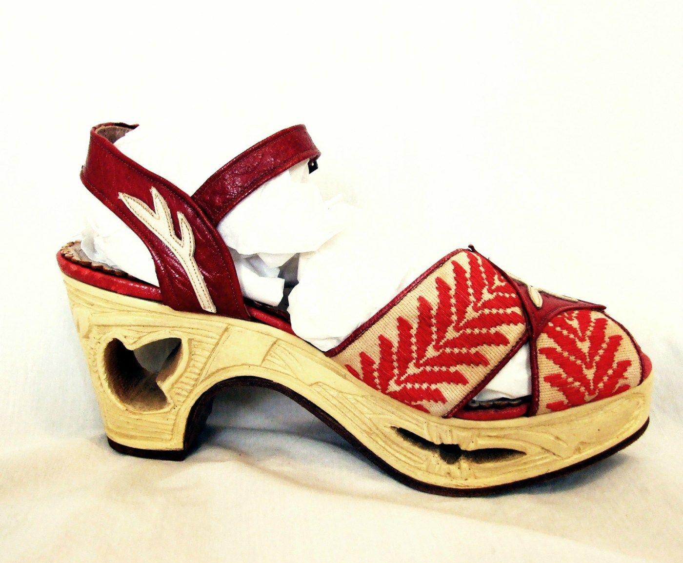 1940s WWII Carved Platform Heels | Swing Era Shoes