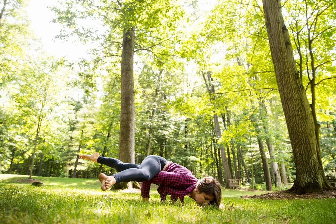 Photography Strength And Balence Doing Some Yoga Acro In The Forests Here At