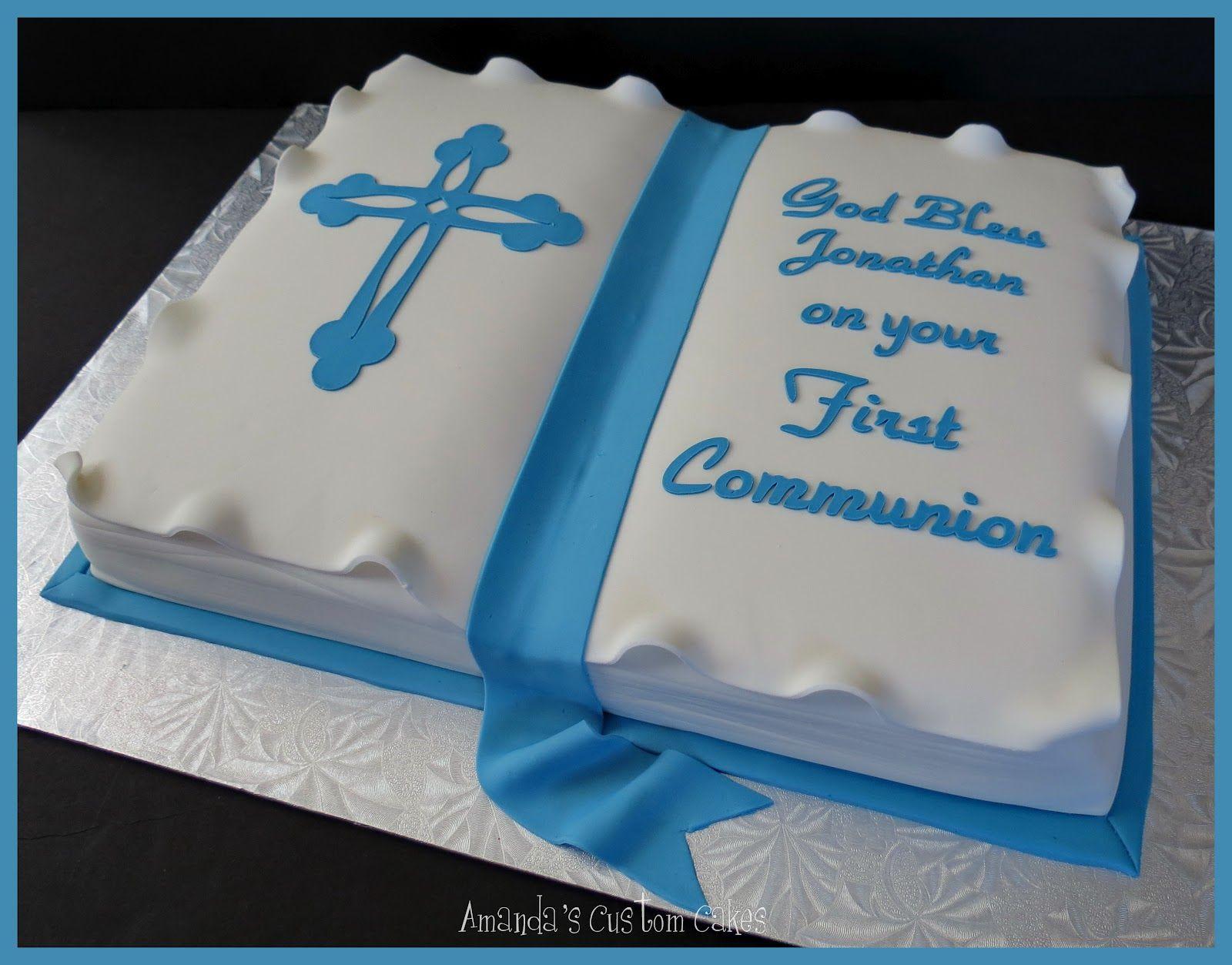 Communion Cakes For Boys Amandas Custom Cakes First Communion