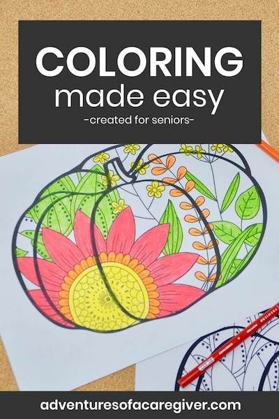 Easy Fall Coloring Page for Seniors | Fall coloring pages ...