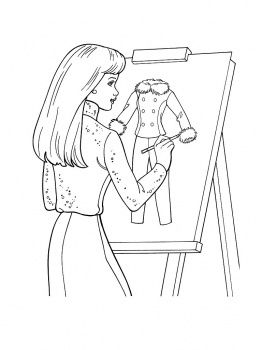 Fashion Designer Coloring Pages Google Search Coloring Pages Barbie Coloring Pages Barbie Coloring