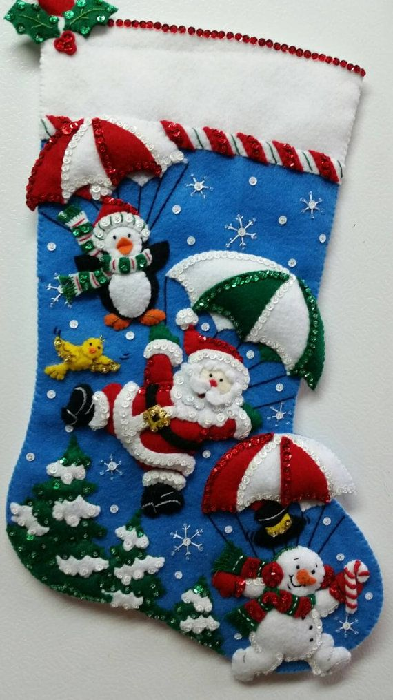 18 Quot Completed Hand Sewn Bucilla Christmas Stocking