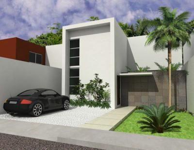 Fachadas de casas modernas peque as una planta buscar - Casas de una planta modernas ...