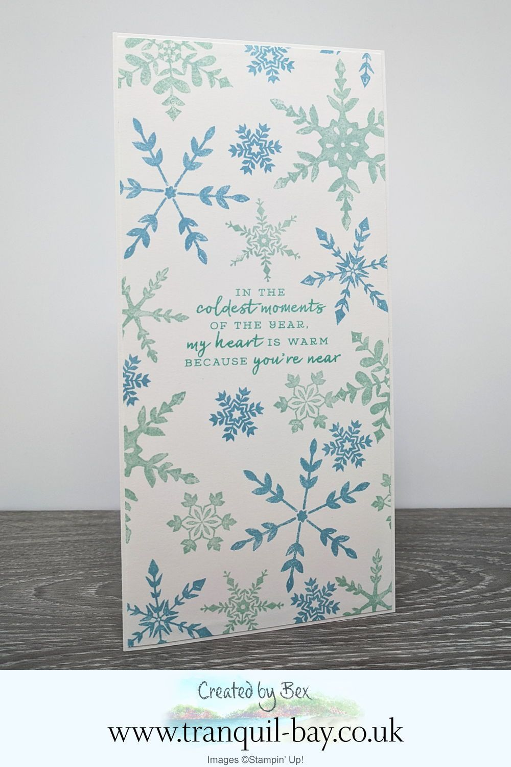 Snowflake Wishes Card in 2020 Handmade cards stampin up