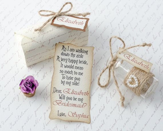 Check Out The Rest Of Our Bridesmaid Message In A Bottle Designs