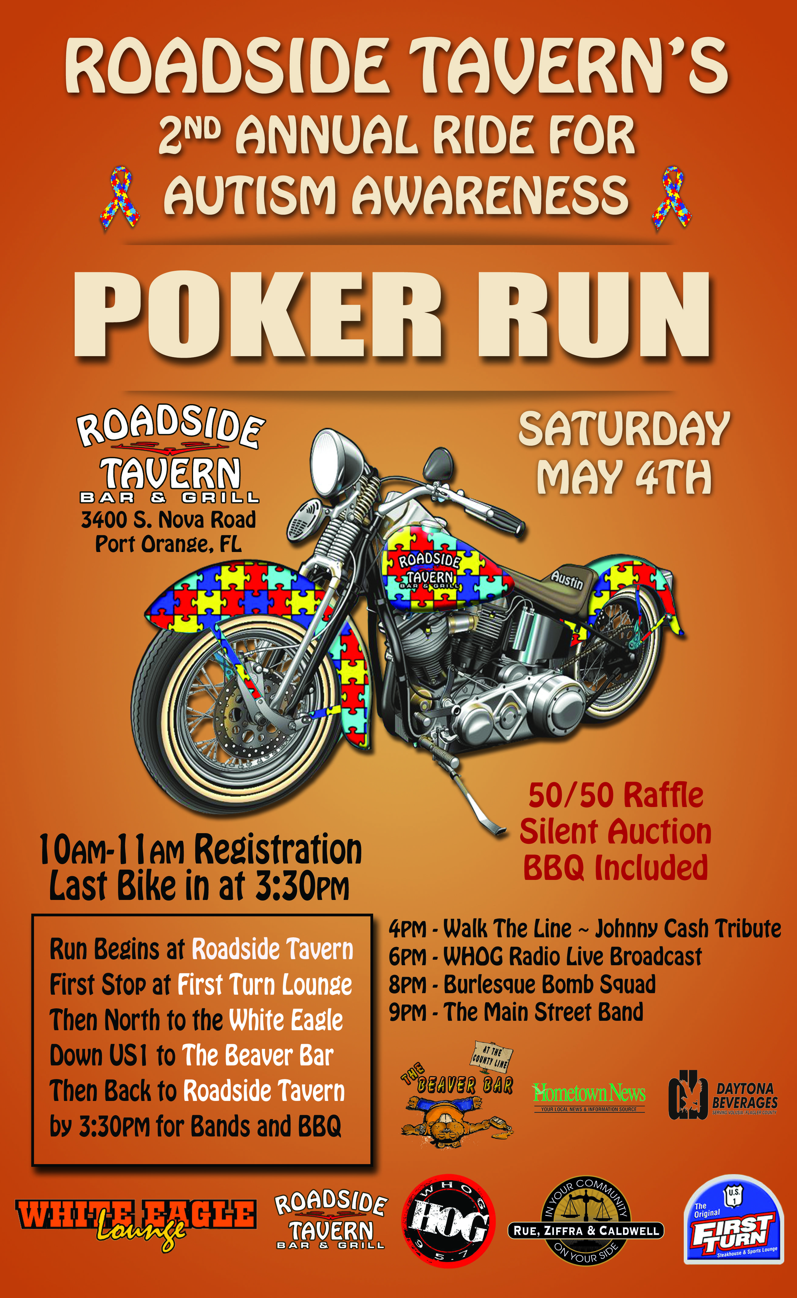 Motorcycle Poster Autism Poker Run Relay For Life Posters Benefit
