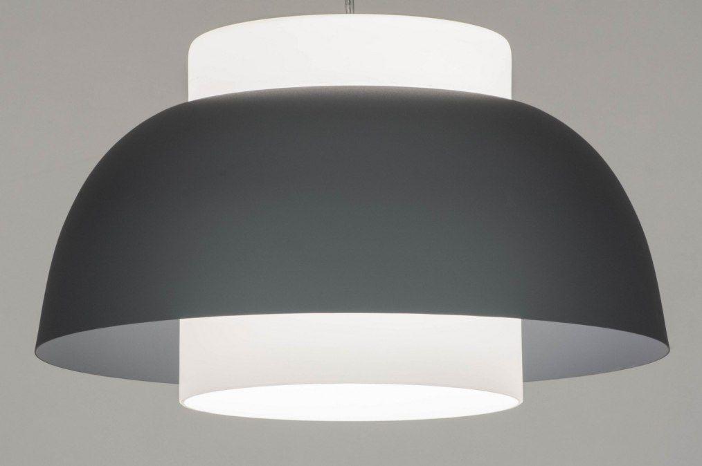 Artikel grijze hanglamp in trendy retro stijl deze