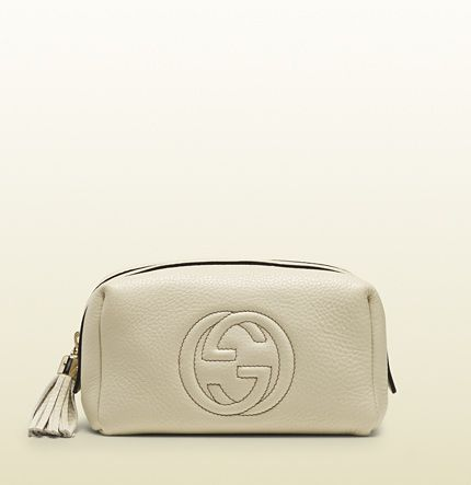 07e921dfef2 Gucci - soho medium white leather cosmetic case