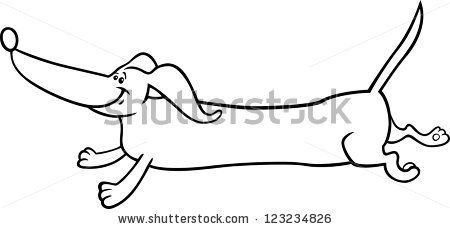 Dashound Coloring Pages Running Dachshund Dog For Coloring