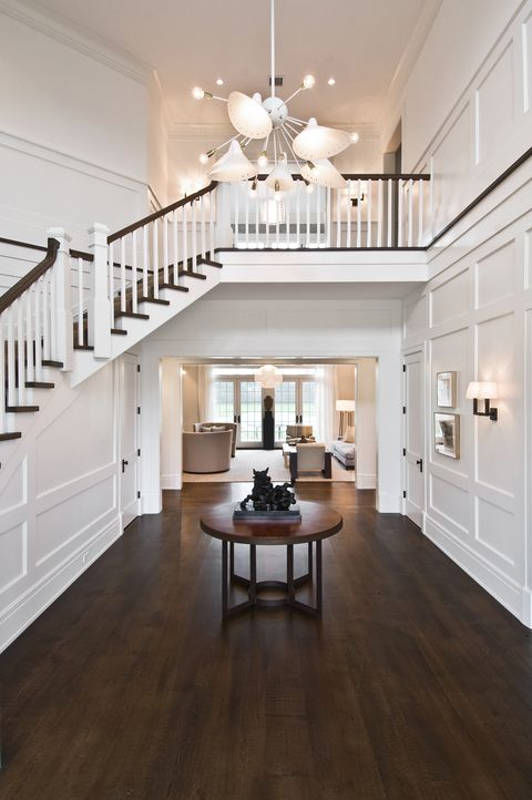 Best Cape Cod Entry With Modern Style Chandelier House Design 400 x 300