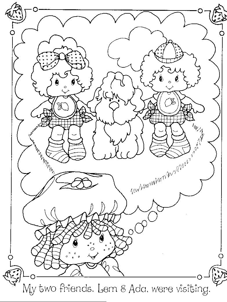 christmas strawberry shortcake coloring pages-#28