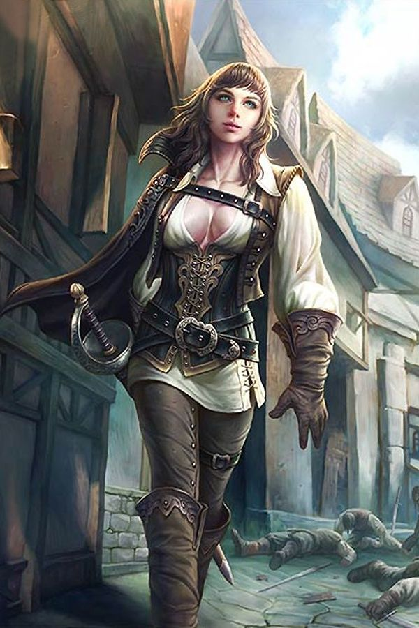 Female Rouge Character Portraits Fantasy Artwork Character Art