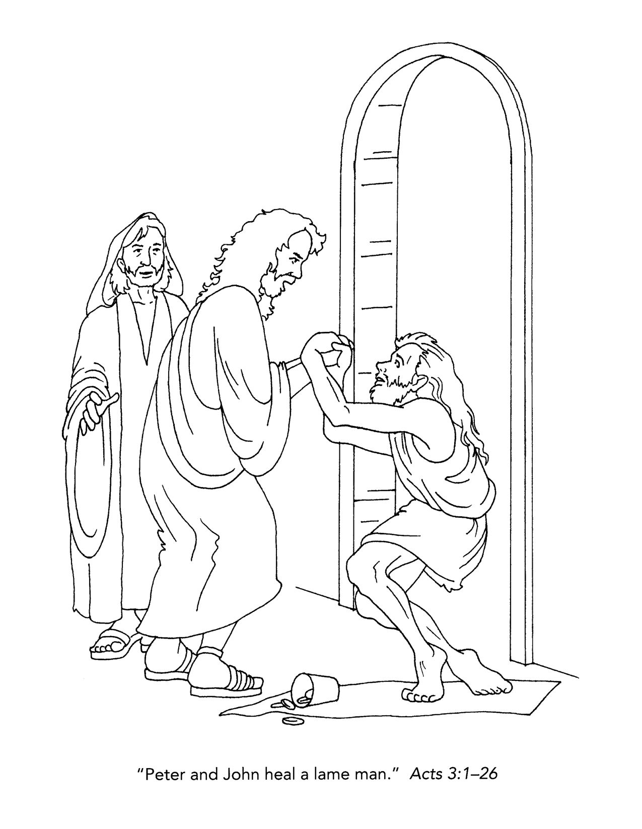 lame man healed coloring page Printables http://www