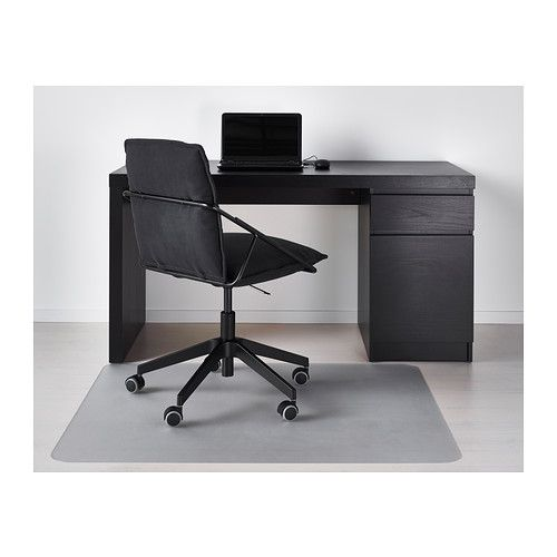 Ikea Malm Desk Black Brown You Can Collect Cables And Extension Cords On The Shelf Under Table Top So They Re Hidden But Still Close At Hand