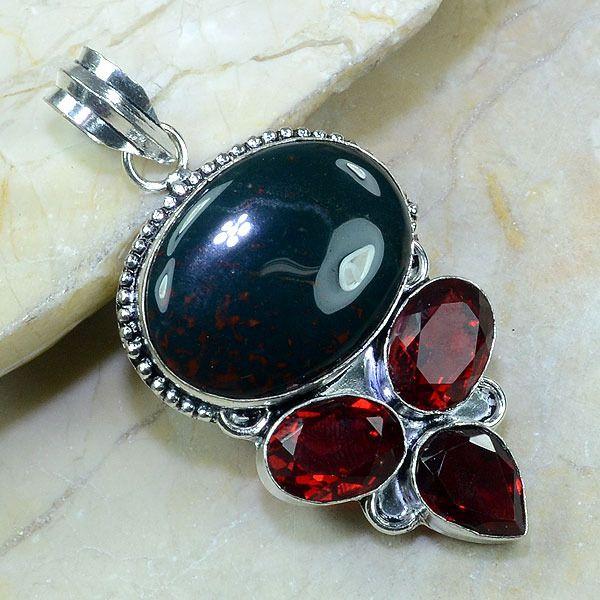 Blood Stone Garnet Pendant.
