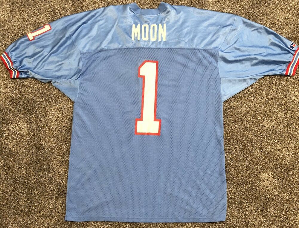 19074a064 Warren Moon Houston Oilers Throwback NFL Jersey Men s Size 52 Russell  Athletic