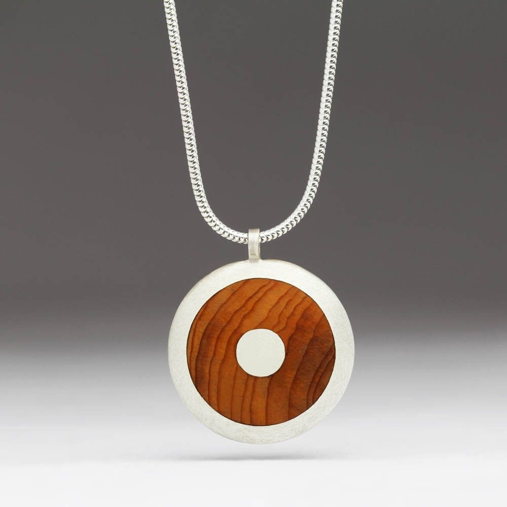 Contemporary silver and wood pendant p42 jewellery inspiration contemporary silver and wood pendant p42 aloadofball Image collections