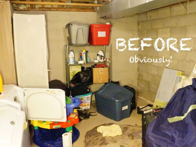 Unfinished Basement Laundry Room Makeover