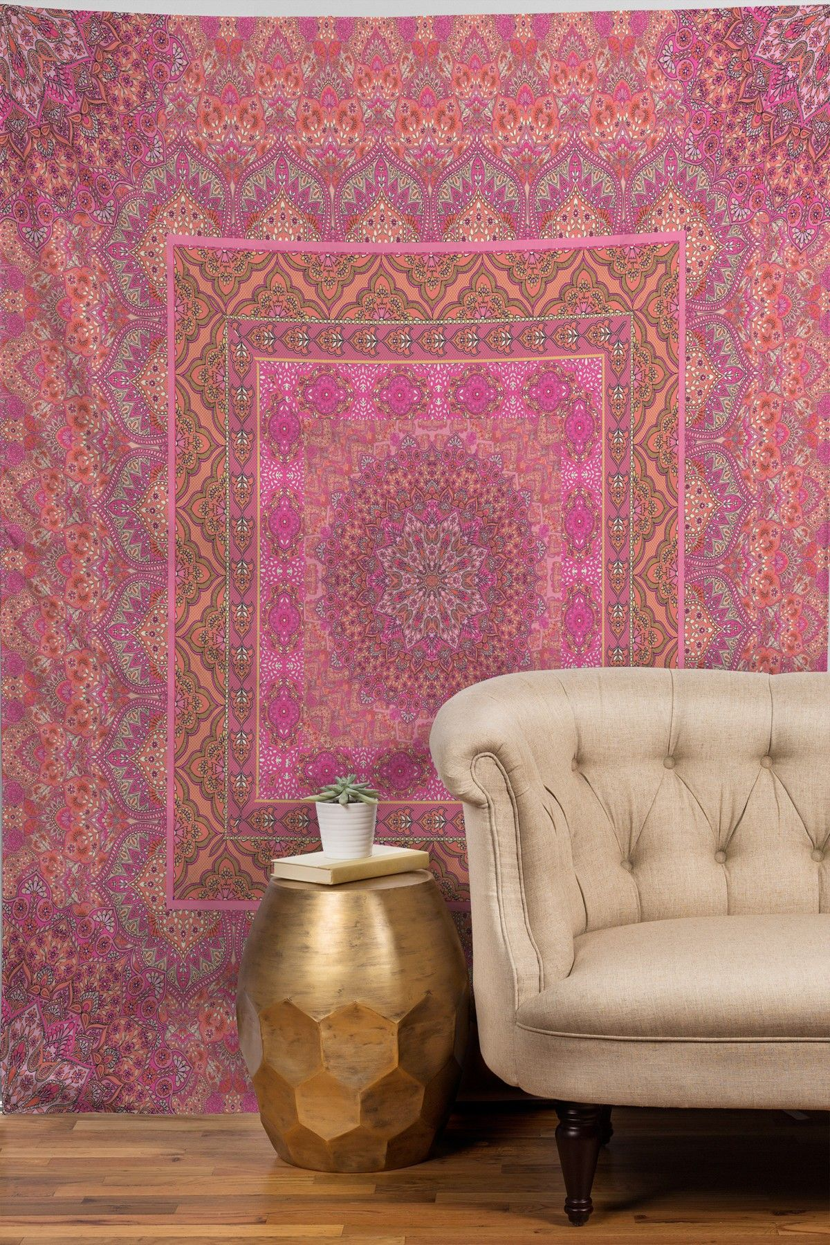 Aimee St Hill Farah Squared Soft Blush Tapestry by DENY Designs on @HauteLook