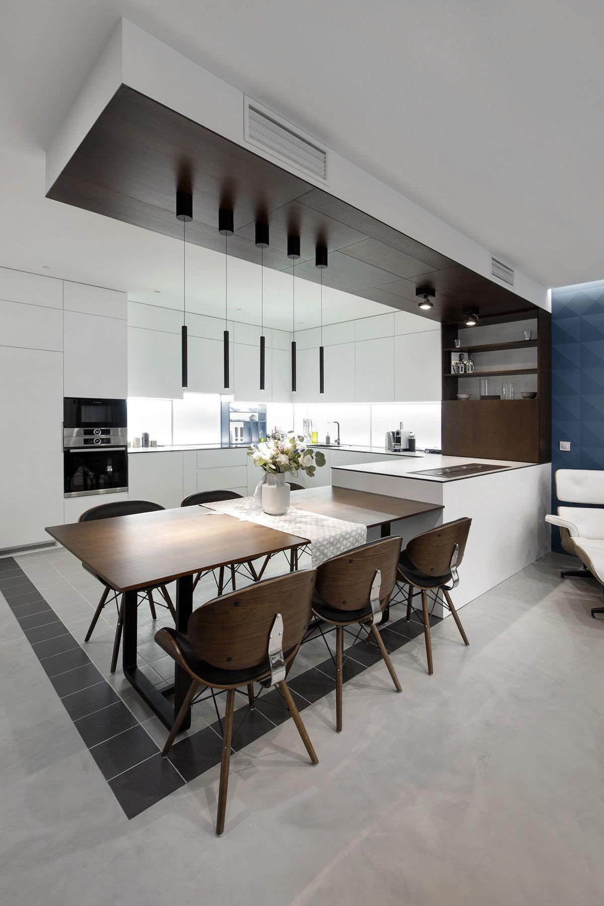 100 idee cucine moderne stile e design per la cucina for Tavolo cucina design