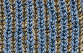 Loom Knitting With Two Colors : Cottage dyeworks: how to knit a two color brioche stitch;