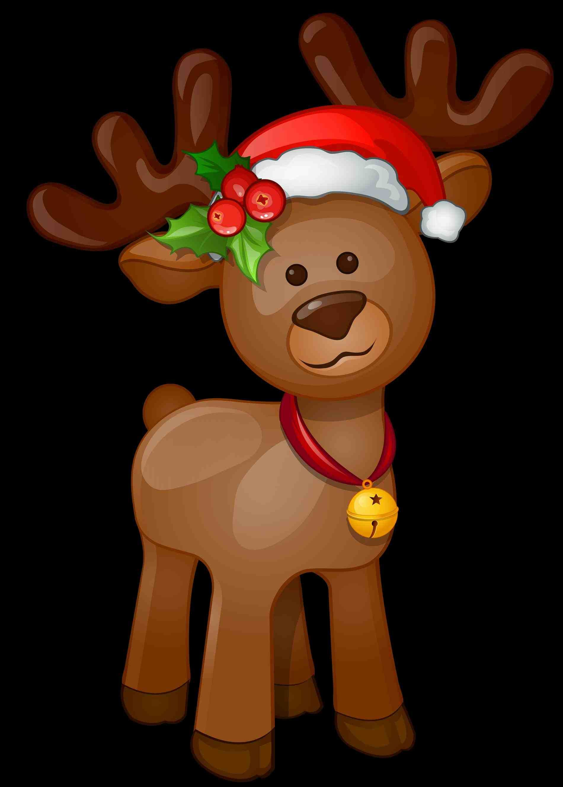 New Post Cute Christmas Reindeer Clipart