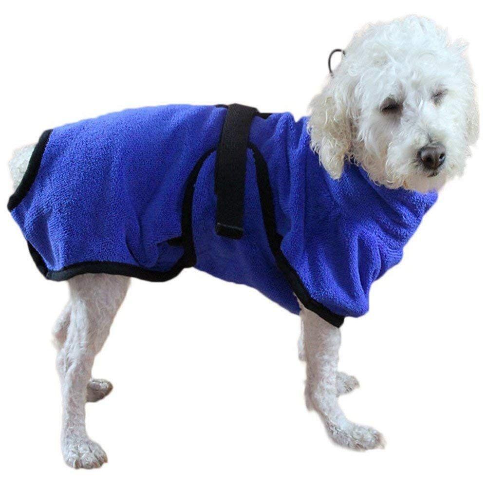 Kimigo Pet Bathrobe Puppy Bath Towel Fashial Quick Drying Soft