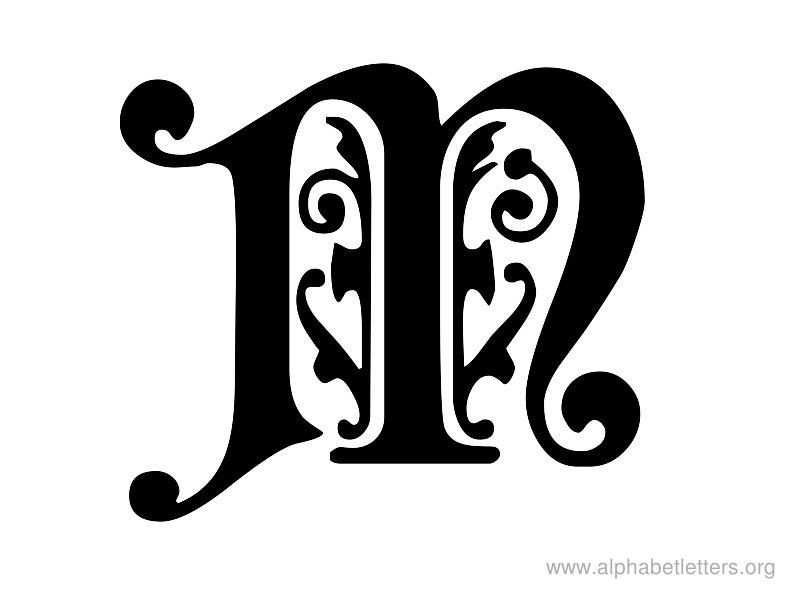 pin of letters m graffiti letter ornamental alphabet on